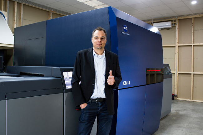 Нова AccurioJet KM-1 в немска печатница