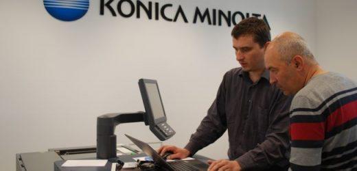 За дигиталния печат на етикети сbizhub PRESS C71cf на Konica Minolta