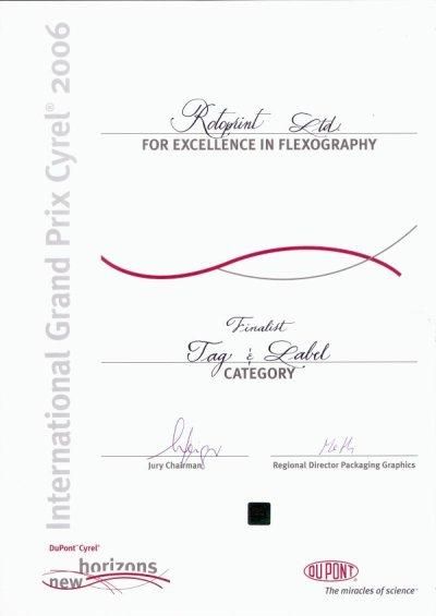 Ротопринт – финалист в конкурс на DuPont.