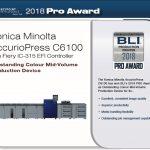Konica Minolta AccurioPress C6100 спечели награда на BLI Pro Award 2018.