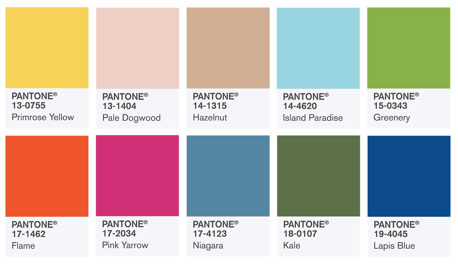 Pantone прогнозира 10-те най-използвани цвята за пролет 2017
