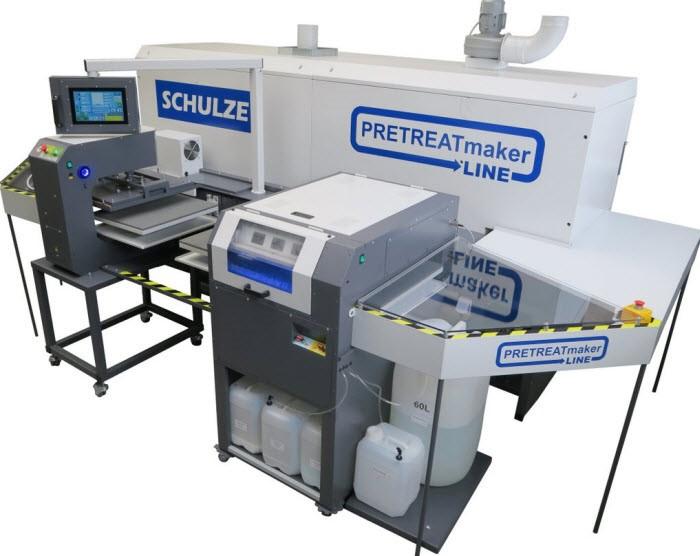 Предварителна обработка на дрехи с автоматизираната линия на Schulze