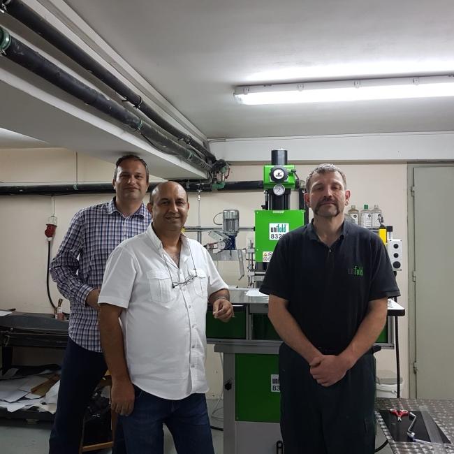 Печатница Симолини - 94 се оборудва с нова машина за топъл печат и преге