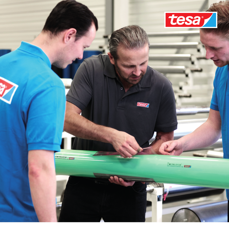 Tesa Twinlock® – устойчиво решение за монтаж на флексопечатни форми