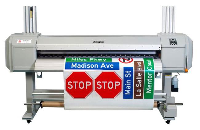 CMYK и спот цветове за TrafficJet 1638 принтера за печат на пътни знаци и табели