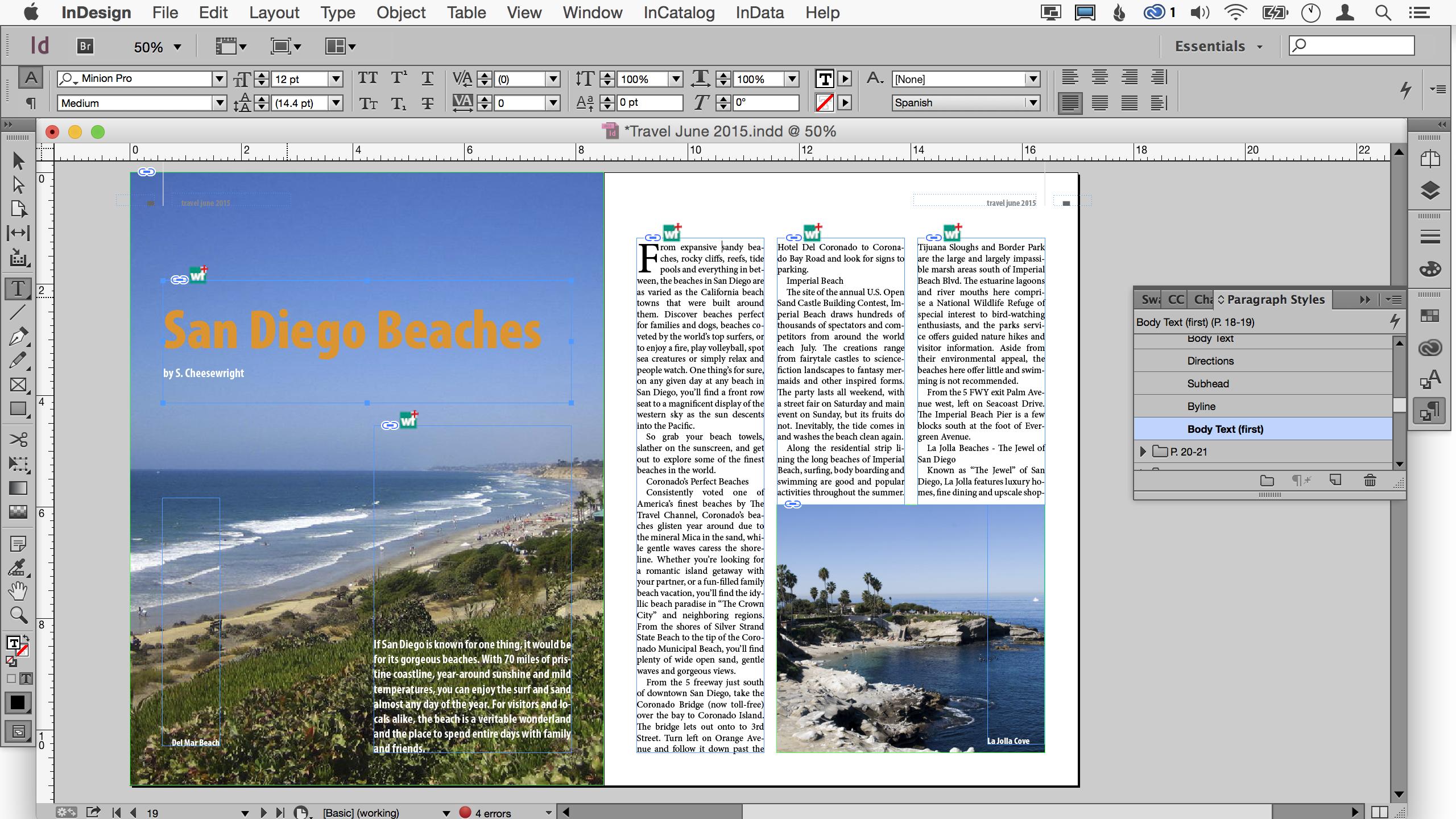 Плъгинът WordsFlow позволява работа на InDesign с Word и Excel документи
