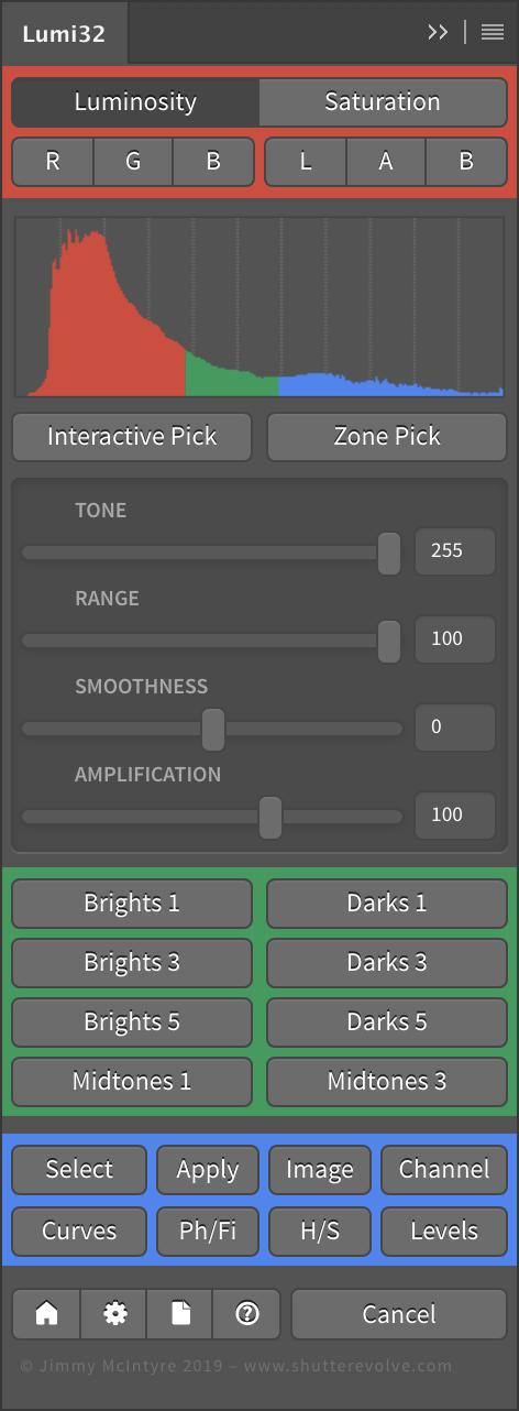 32-битови маски, базирани на осветеността с Lumi32