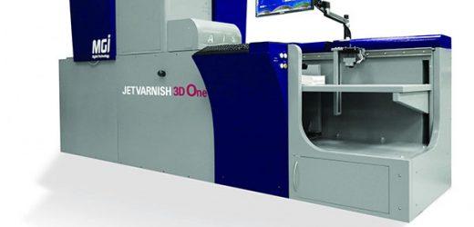 Konica Minolta въвежда на пазара MGI JETVARNISH 3D One – базова дигитална система за обогатяване с частичен UV лак