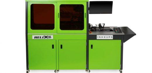 360 градусов инкджет печат върху цилиндри от Inkcups
