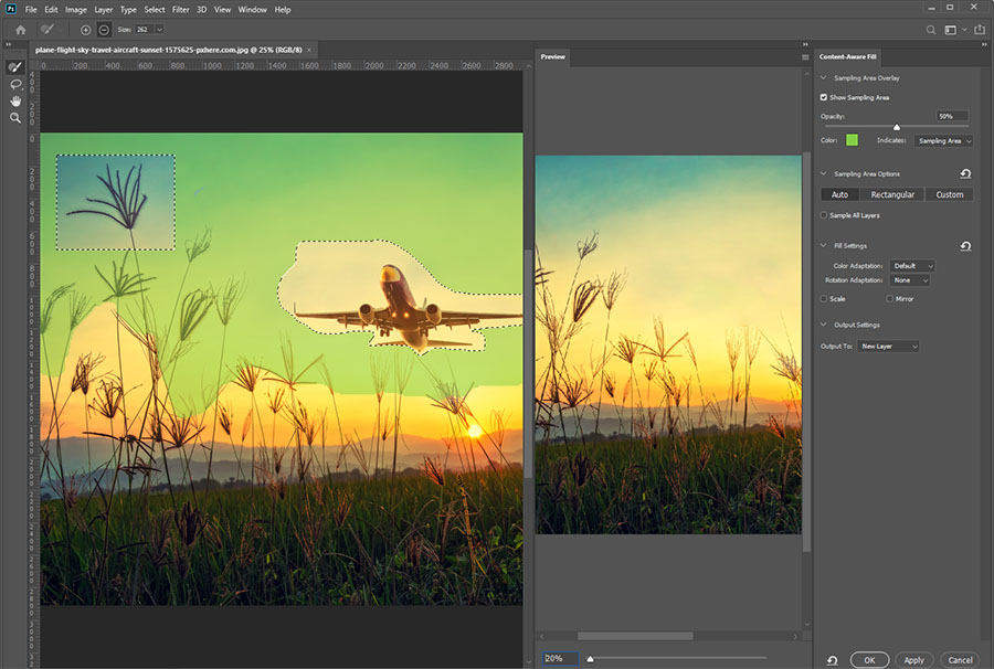 Ново във Photoshop – Content-Aware Fill, Lens Blur, работа с текст, селекции