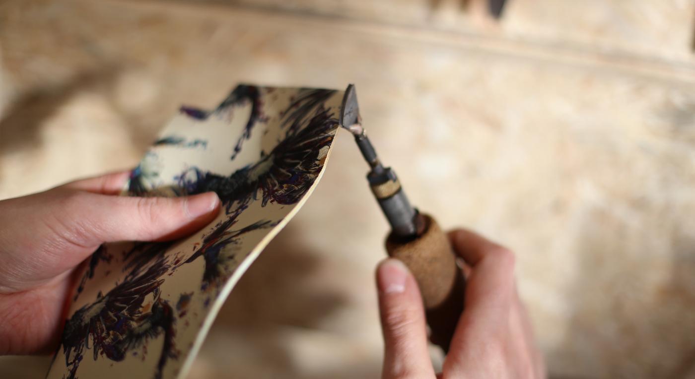 печат върху естествена кожа