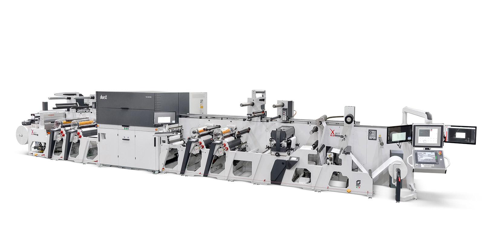 Хибридна машина за печат на етикети от Omet и Durst