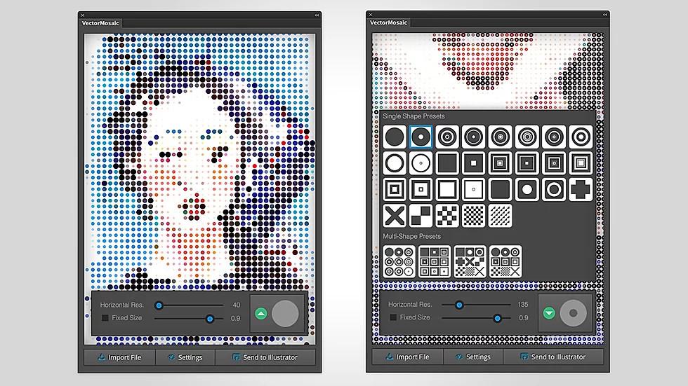 векторна мозайка от снимки