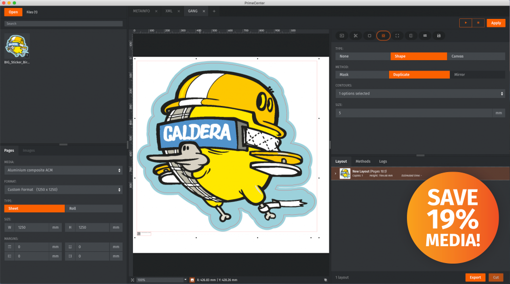 PrimeCenter - нов софтуер от CALDERA и ZÜND