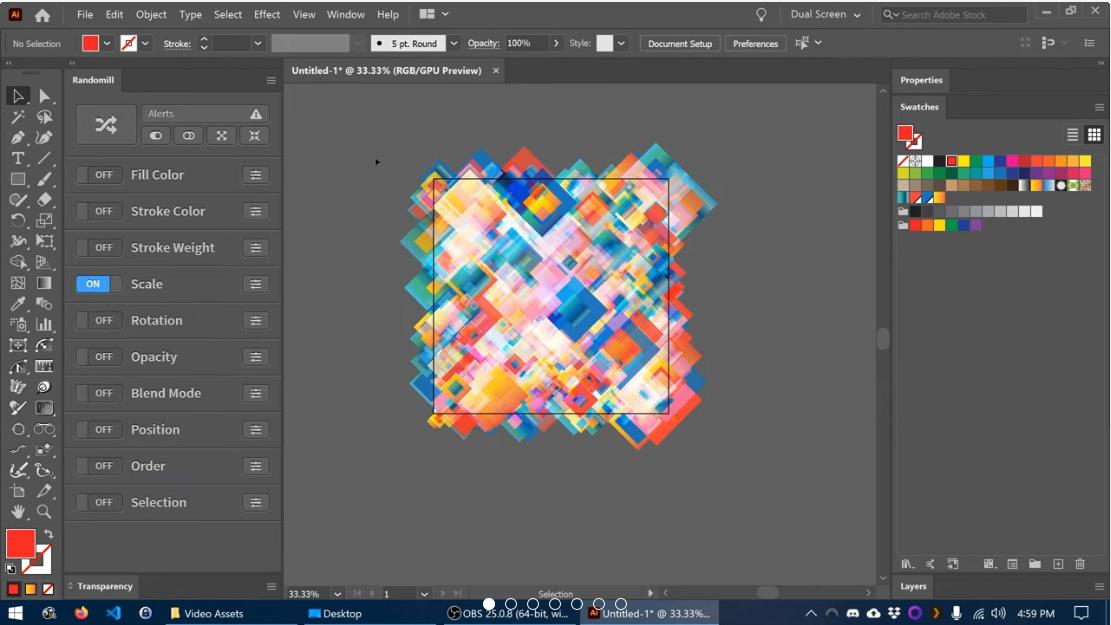 Плъгин за генериране на произволни модели и дизайни за Adobe Illustrator