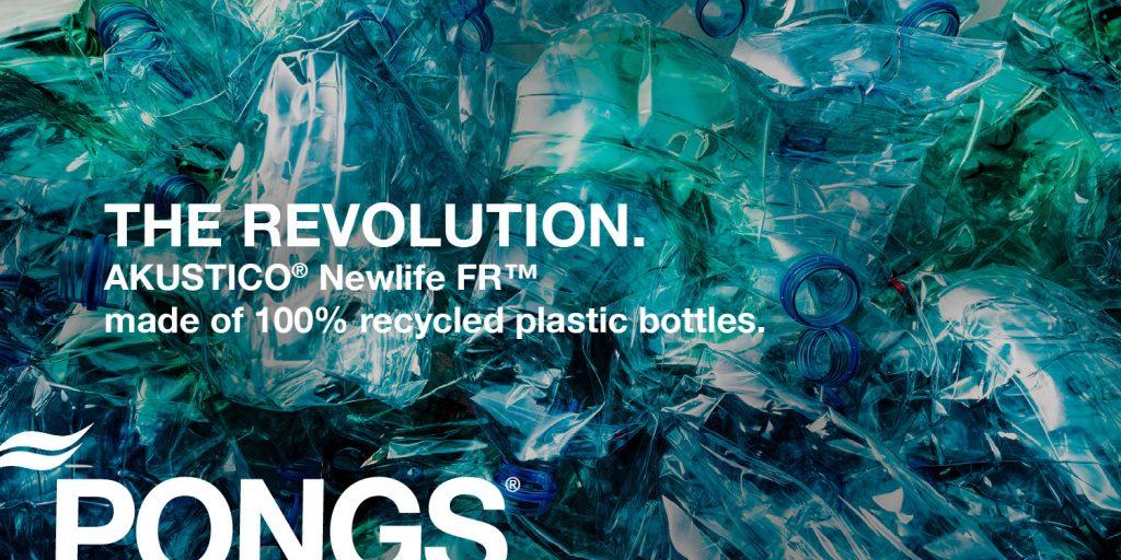 текстилен материал на PONS от рециклирана пластмаса