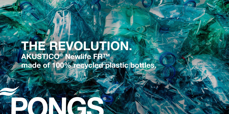Нов текстилен материал на PONGS от рециклирана пластмаса