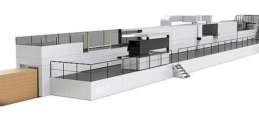 Подобрения на машина за печат върху велпапе на Koenig & Bauer Durst