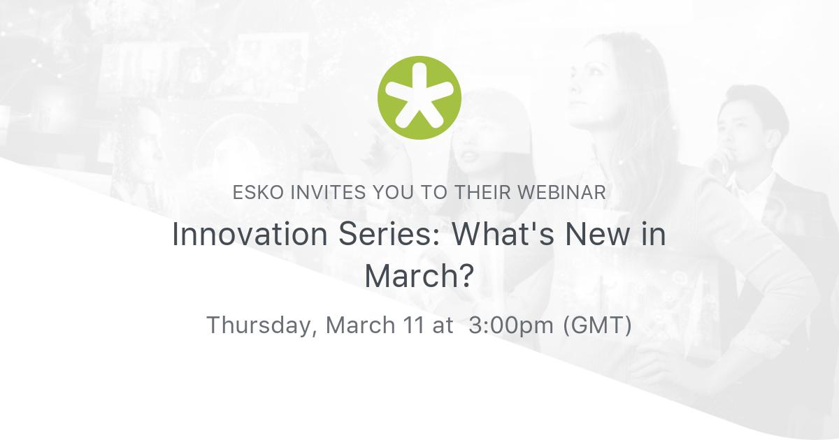 Esko ще представи последните си иновации по време на безплатен уебинар