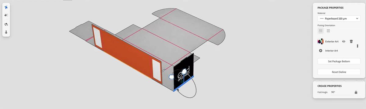 Онлайн инструмент за пробно сгъване на чертежи на картонени опаковки